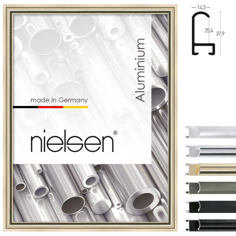 nielsen cadre en aluminium coupe sur mesure profil 71. Black Bedroom Furniture Sets. Home Design Ideas
