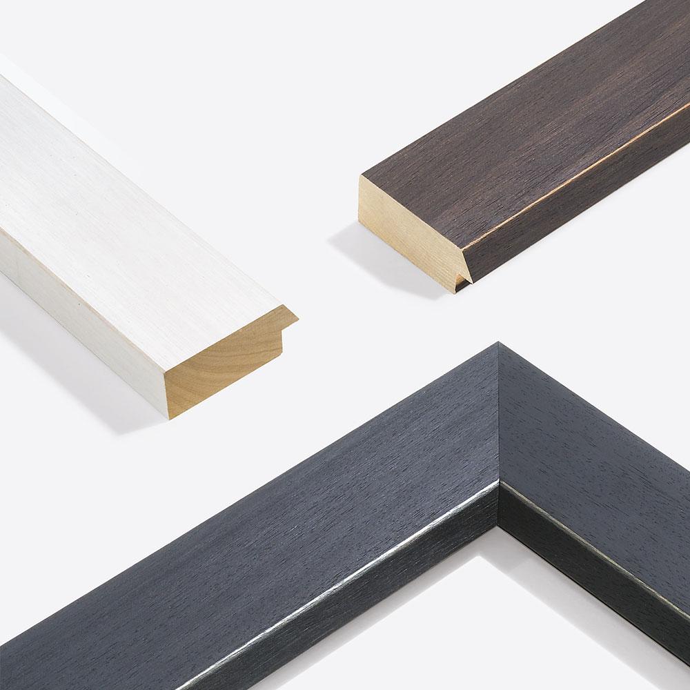 Cadre en bois coupe sur mesure, Modern Shabby 75