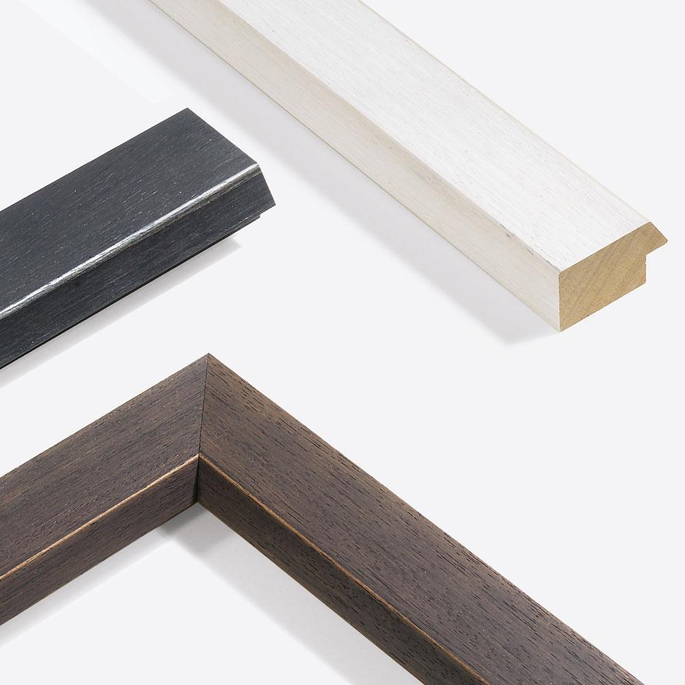 Cadre en bois coupe sur mesure, Modern Shabby 50