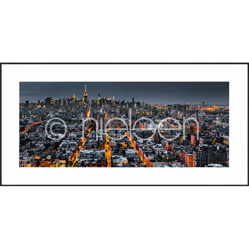 "Image encadrée ""New York Skyline"" avec cadre en aluminium C2"