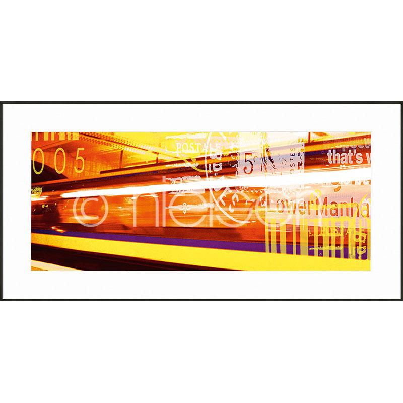 """Image encadrée """"Metro Lower Manhattan"""" avec cadre en aluminium C2"""