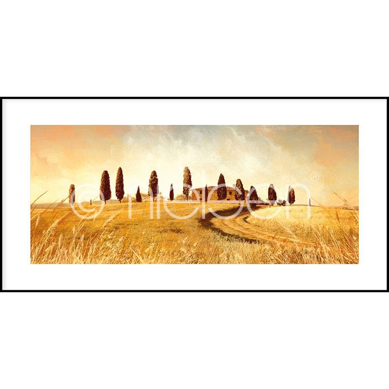 """Image encadrée """"Landscape Italy"""" avec cadre en aluminium C2"""