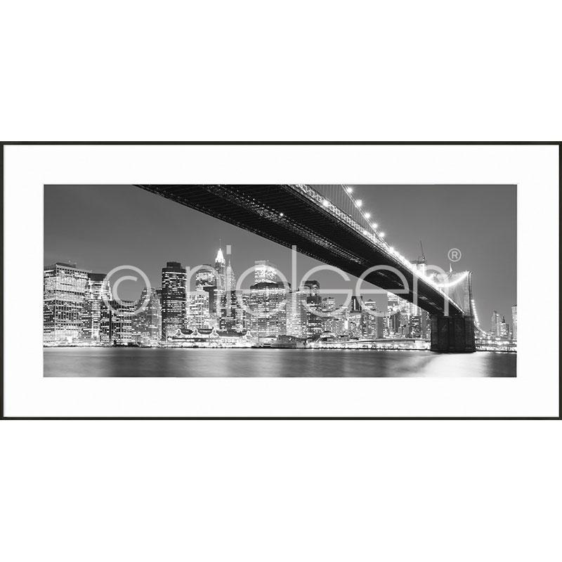 """Image encadrée """"Brooklyn Bridge"""" avec cadre en aluminium C2"""