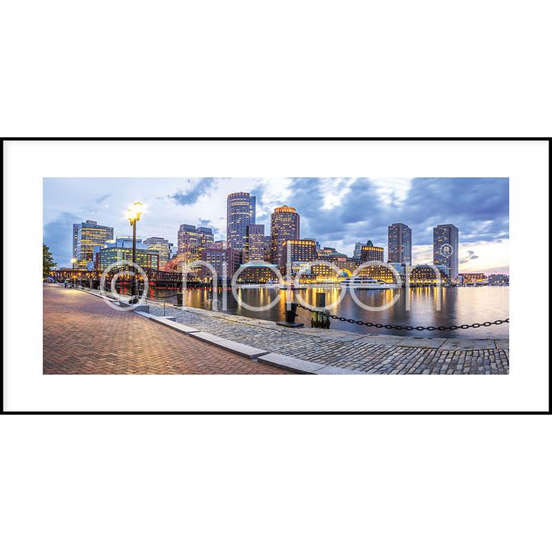 """Image encadrée """"Promenade"""" avec cadre en aluminium C2"""