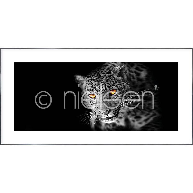 """Image encadrée """"Leopard"""" avec cadre en aluminium Alpha"""