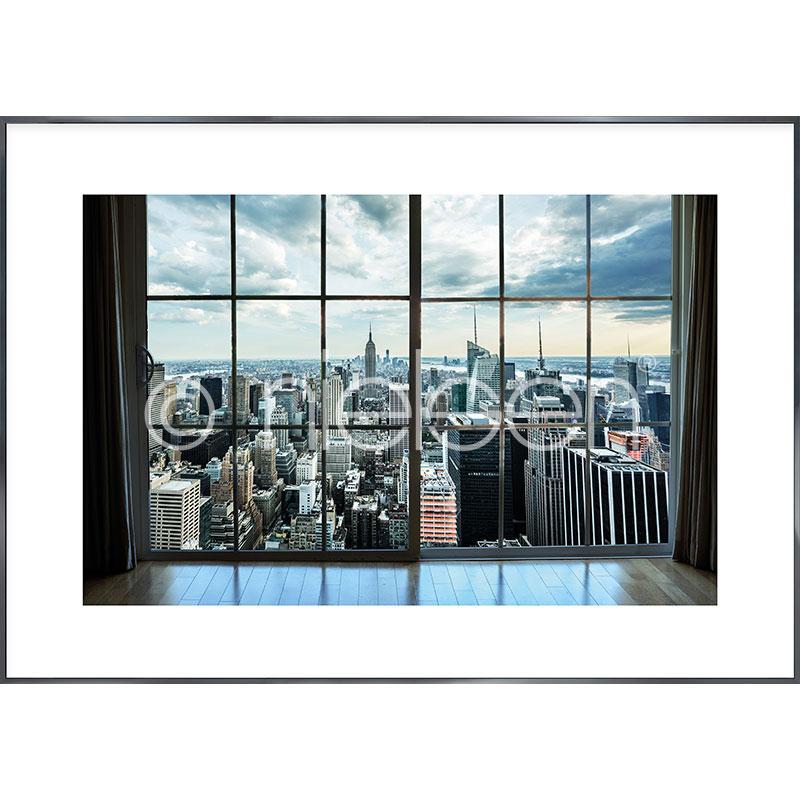 """Image encadrée """"Living Room"""" avec cadre en aluminium Alpha"""