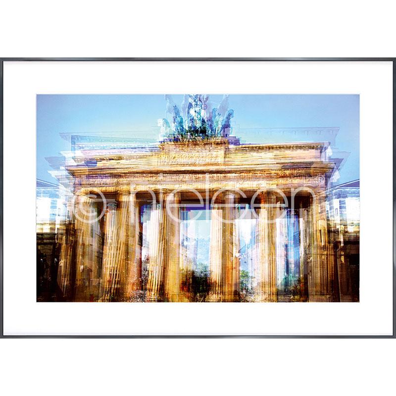 "Image encadrée ""Brandenburg Gate"" avec cadre en aluminium Alpha"