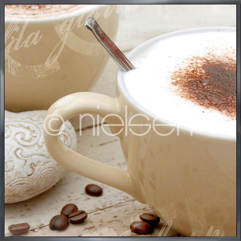 """Image encadrée """"Coffee I"""" avec cadre en aluminium Alpha"""