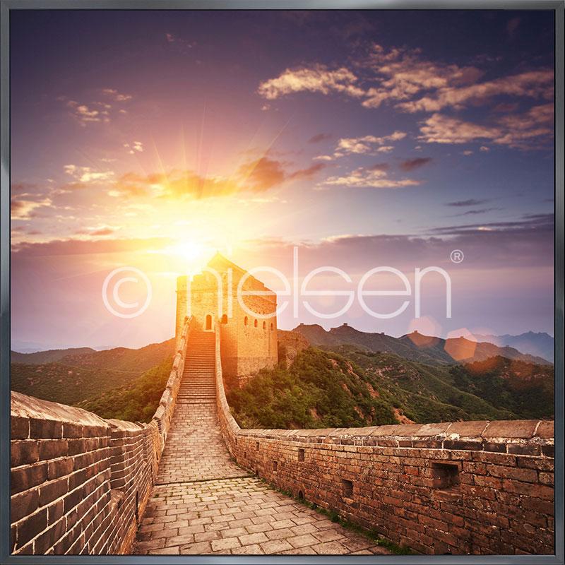 "Image encadrée ""Chinese Wall"" avec cadre en aluminium Alpha"