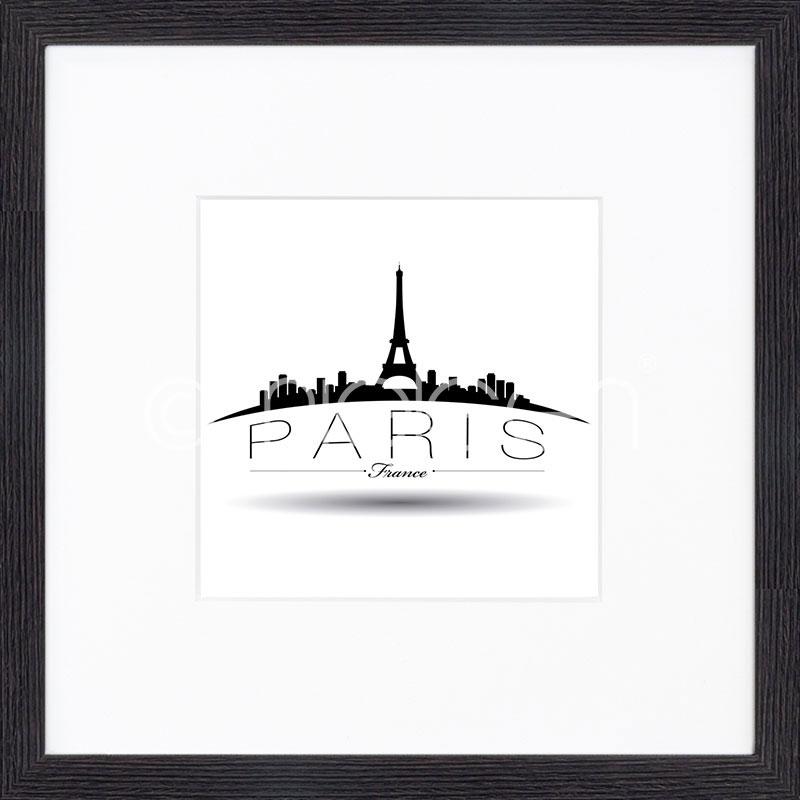 """Image encadrée """"Paris"""" avec cadre en bois Quadrum"""