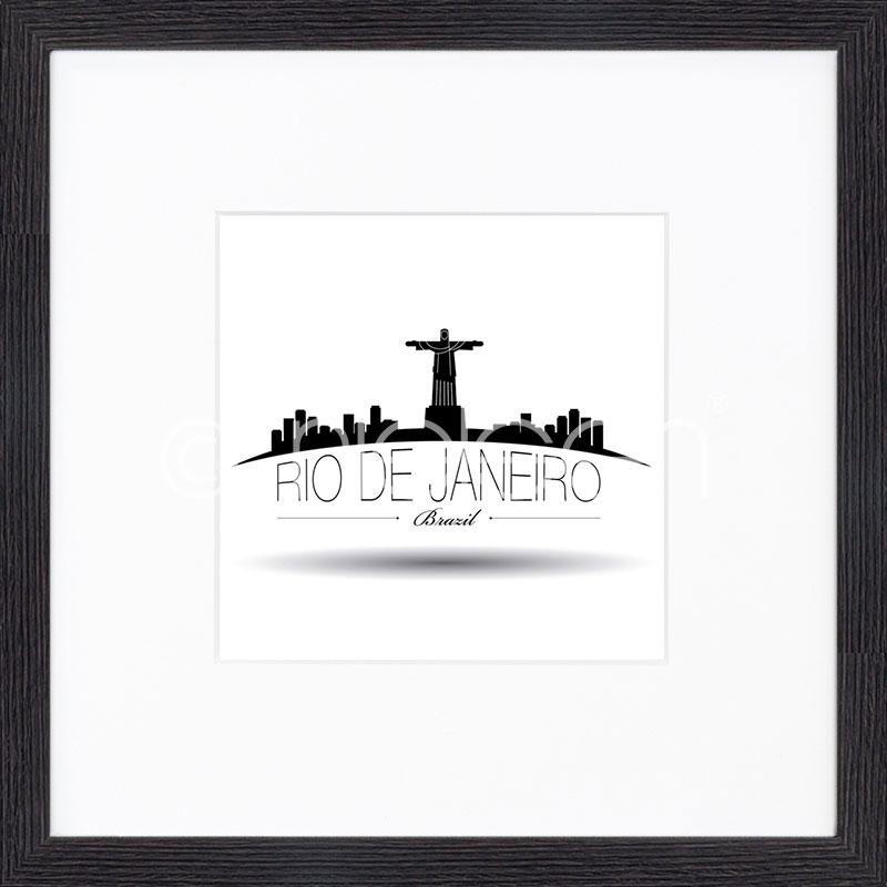 """Image encadrée """"Rio de Janeiro"""" avec cadre en bois Quadrum"""