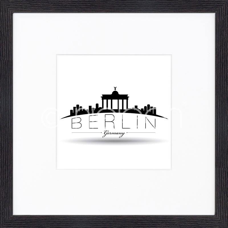 """Image encadrée """"Berlin"""" avec cadre en bois Quadrum"""