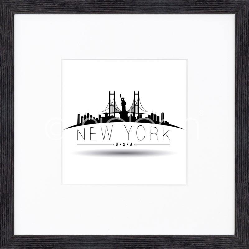 """Image encadrée """"New York"""" avec cadre en bois Quadrum"""