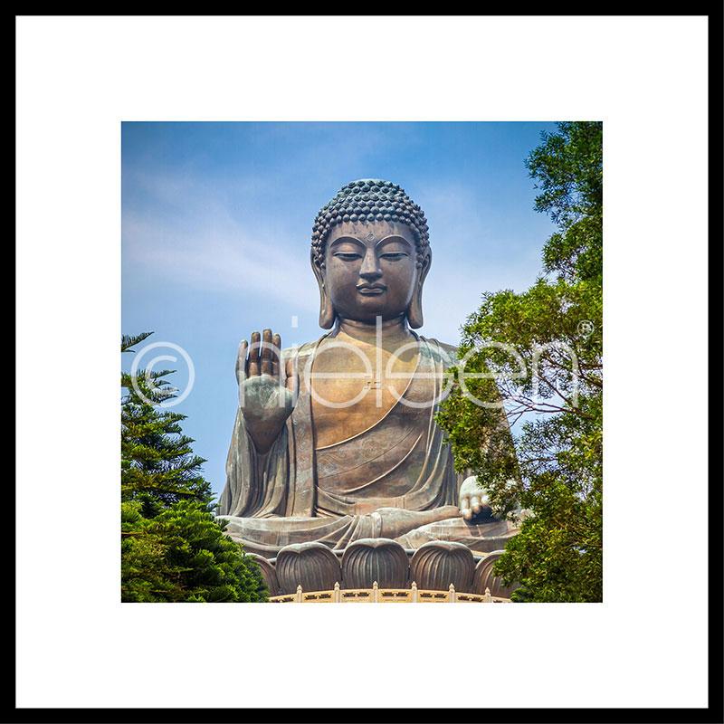 "Image encadrée ""Statue of Buddha"" avec cadre en aluminium C2"