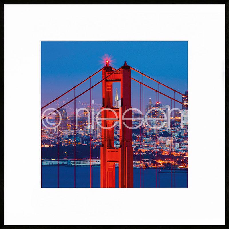 """Image encadrée """"Golden Gate Bridge"""" avec cadre en aluminium C2"""