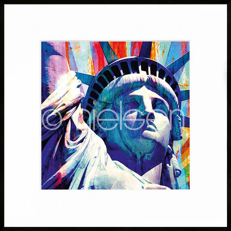 """Image encadrée """"Statue of Liberty"""" avec cadre en aluminium C2"""