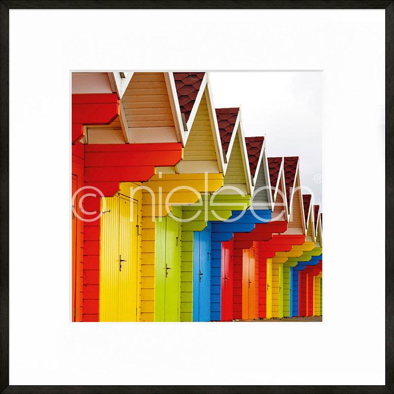 """Image encadrée """"Cottage"""" avec cadre en aluminium C2"""