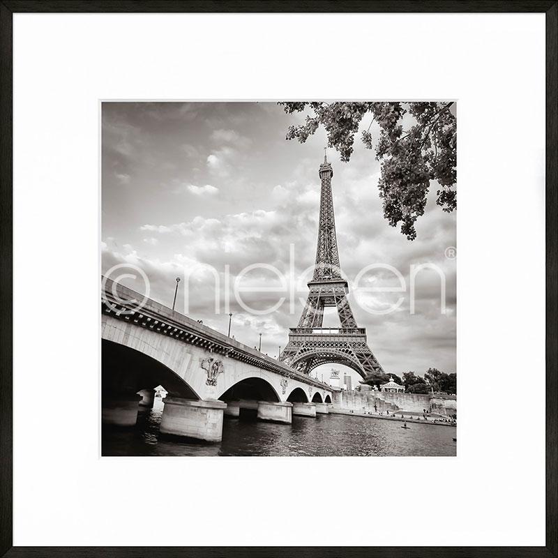 """Image encadrée """"Paris black and white"""" avec cadre en aluminium C2"""