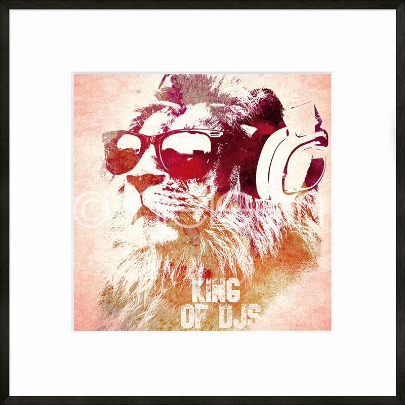 """Image encadrée """"King of DJs"""" avec cadre en aluminium C2"""