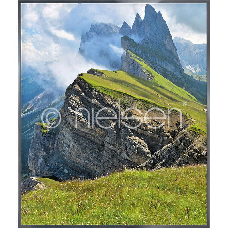 """Image encadrée """"Mountain Range"""" avec cadre en aluminium Alpha"""