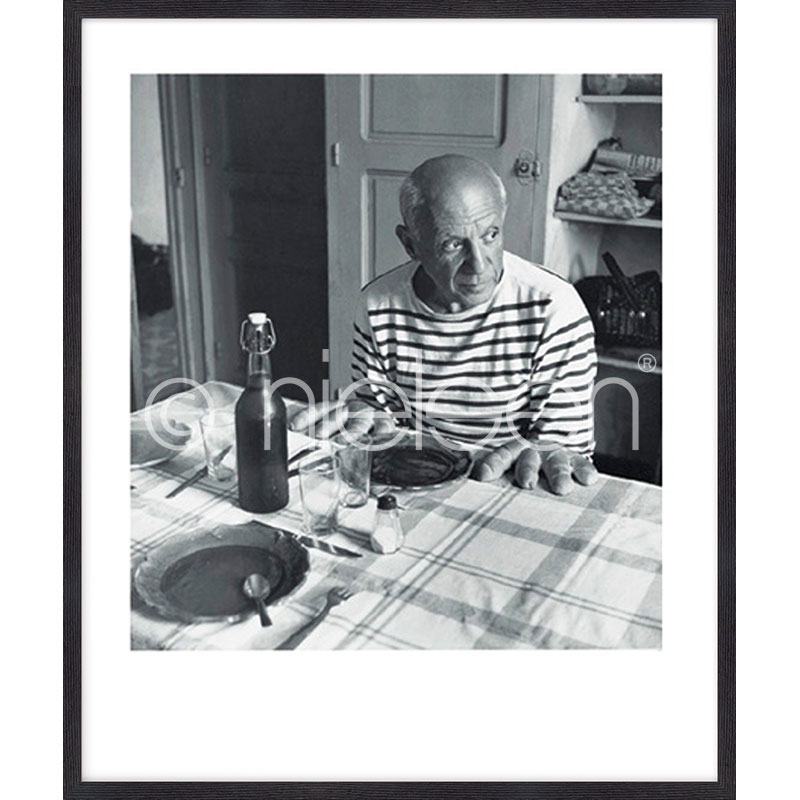 """Image encadrée """"Les pains de Picasso 1985"""" avec cadre en bois Quadrum"""