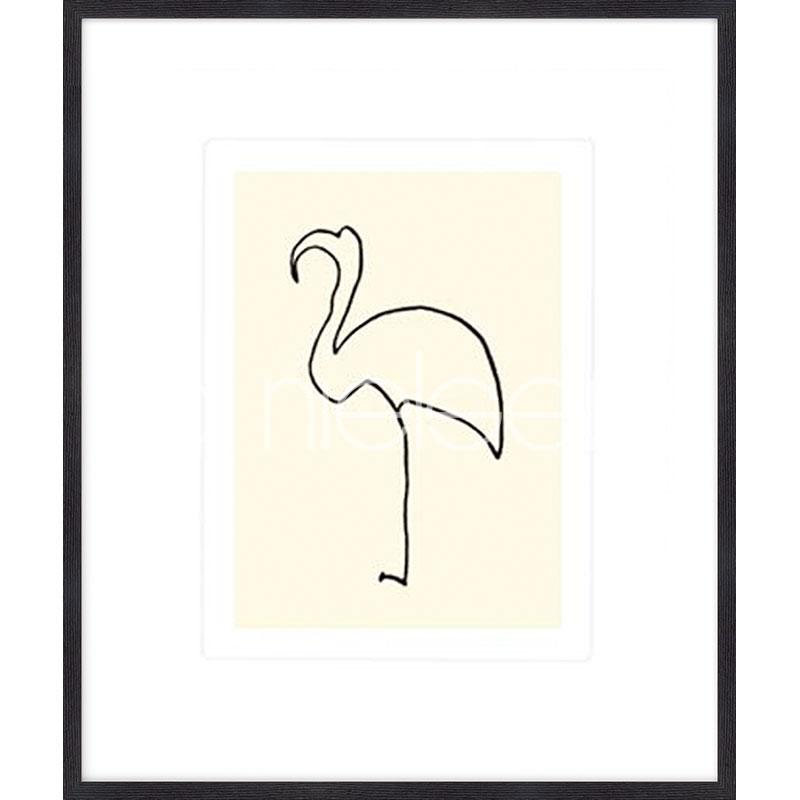 """Image encadrée """"Le flamand rose Picasso 1907"""" avec cadre en bois Quadrum"""