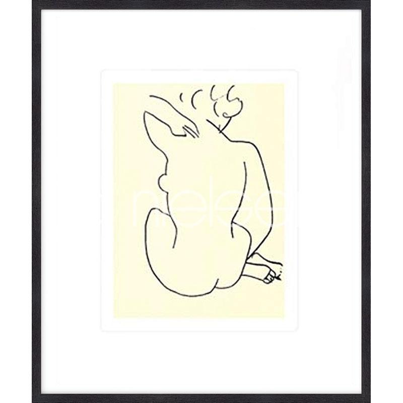 """Image encadrée """"Nu, 1949 con Matisse"""" avec cadre en bois Quadrum"""
