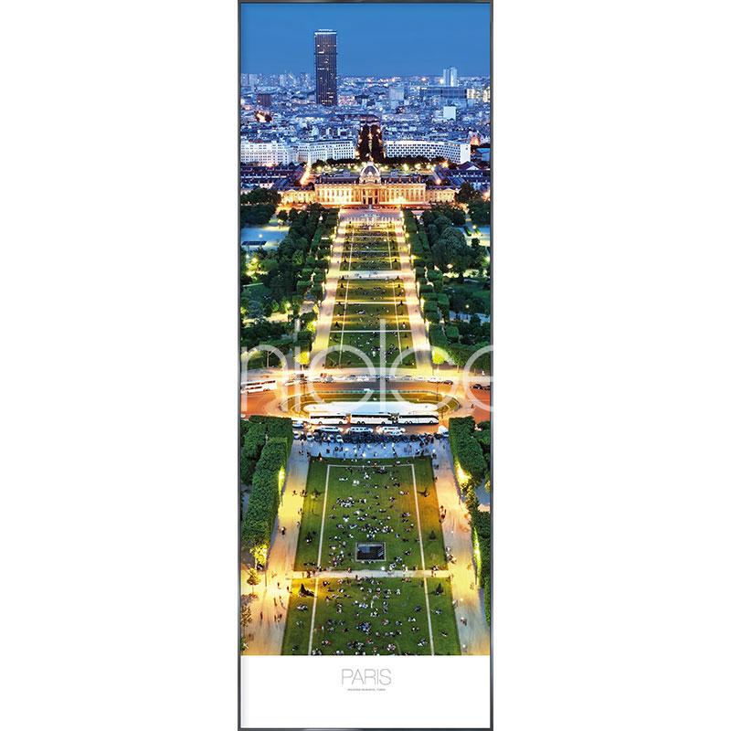 "Image encadrée ""Champs de Mars Parc"" avec cadre en aluminium Alpha"