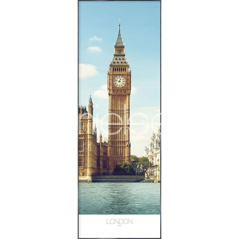 "Image encadrée ""London"" avec cadre en aluminium Alpha"