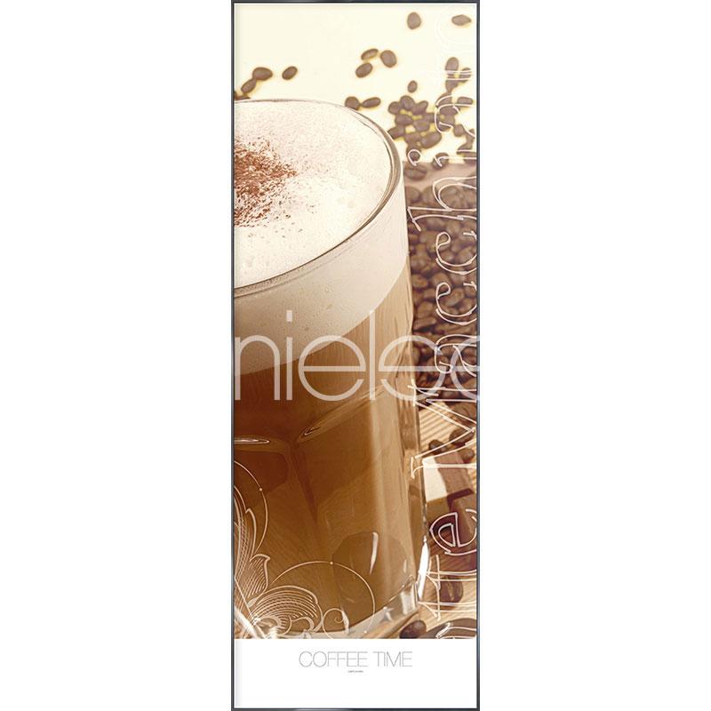 """Image encadrée """"Coffee Time"""" avec cadre en aluminium Alpha"""