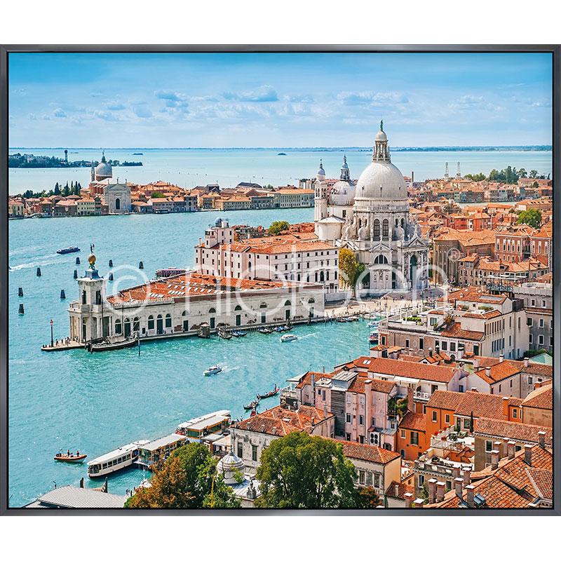 """Image encadrée """"Venice Santa Maria"""" avec cadre en aluminium Alpha"""