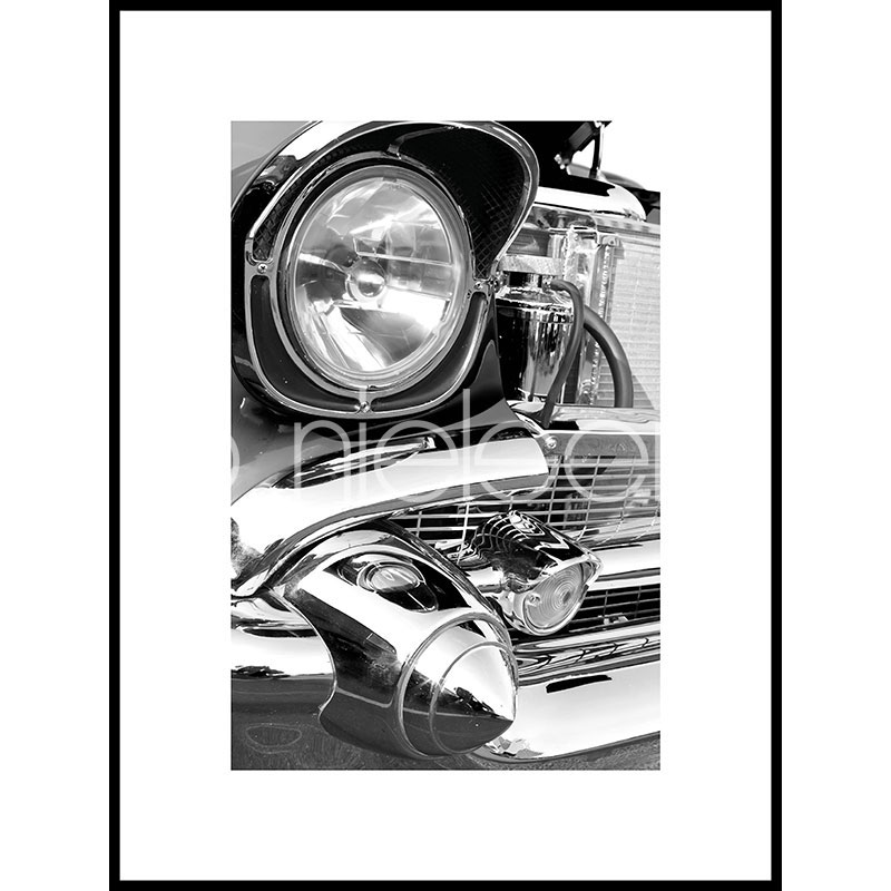 """Image encadrée """"Car Chrome"""" avec cadre en aluminium C2"""