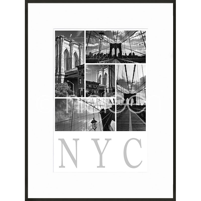 "Image encadrée ""New York City"" avec cadre en aluminium C2"