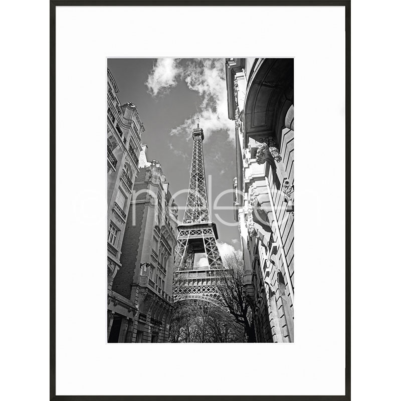 """Image encadrée """"Eiffel Tower"""" avec cadre en aluminium C2"""