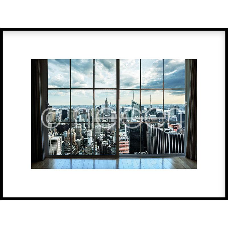 """Image encadrée """"Living Room"""" avec cadre en aluminium C2"""