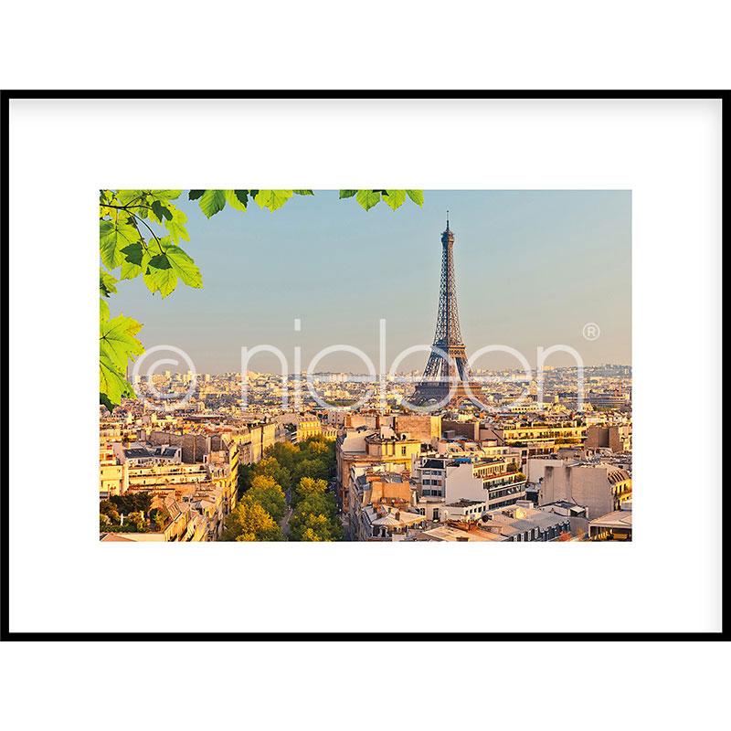 """Image encadrée """"Paris"""" avec cadre en aluminium C2"""