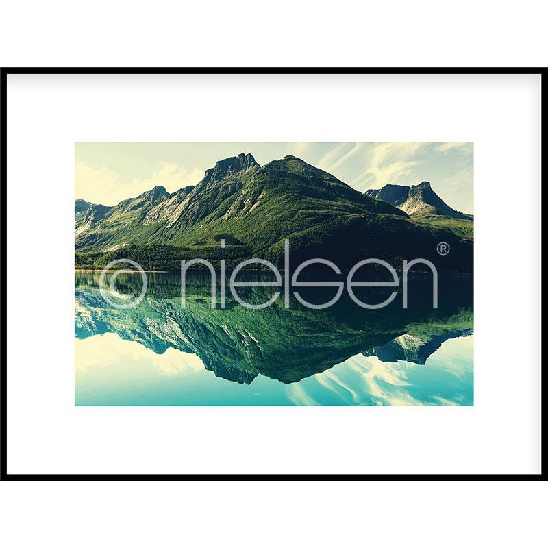 """Image encadrée """"Mountain Lake"""" avec cadre en aluminium C2"""