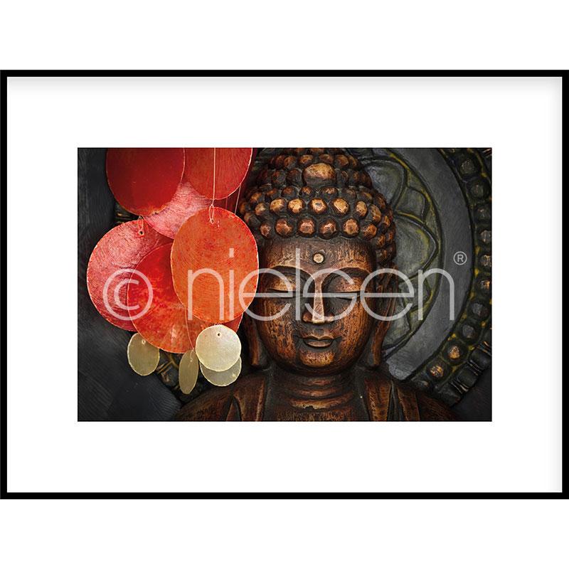 """Image encadrée """"Buddha"""" avec cadre en aluminium C2"""