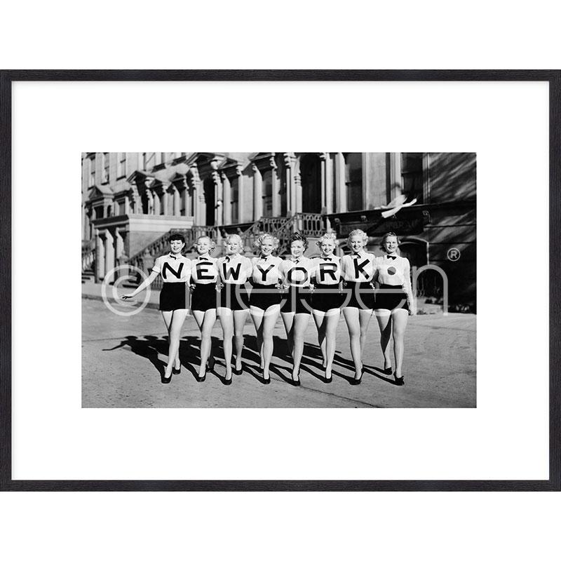 """Image encadrée """"Chorus Line"""" avec cadre en bois Quadrum"""