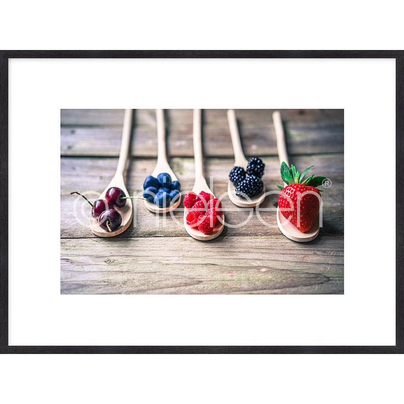 """Image encadrée """"Fruits"""" avec cadre en bois Quadrum"""