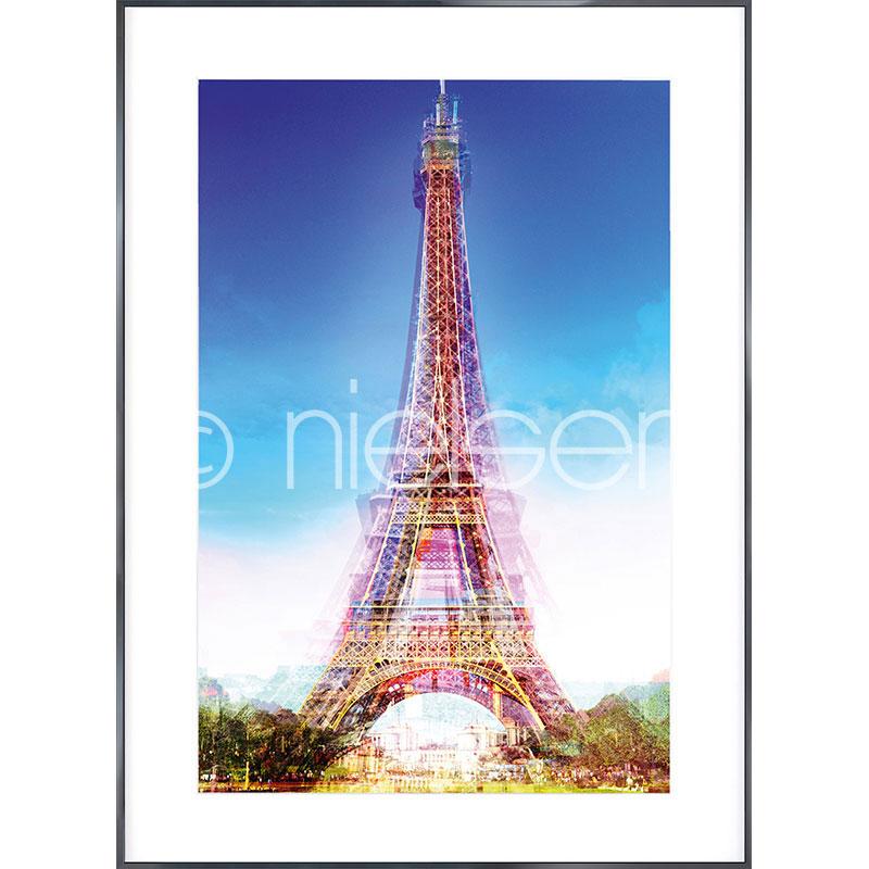 "Image encadrée ""Eiffel Tower"" avec cadre en aluminium Alpha"