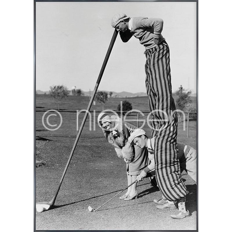"""Image encadrée """"Golfer"""" avec cadre en aluminium Alpha"""