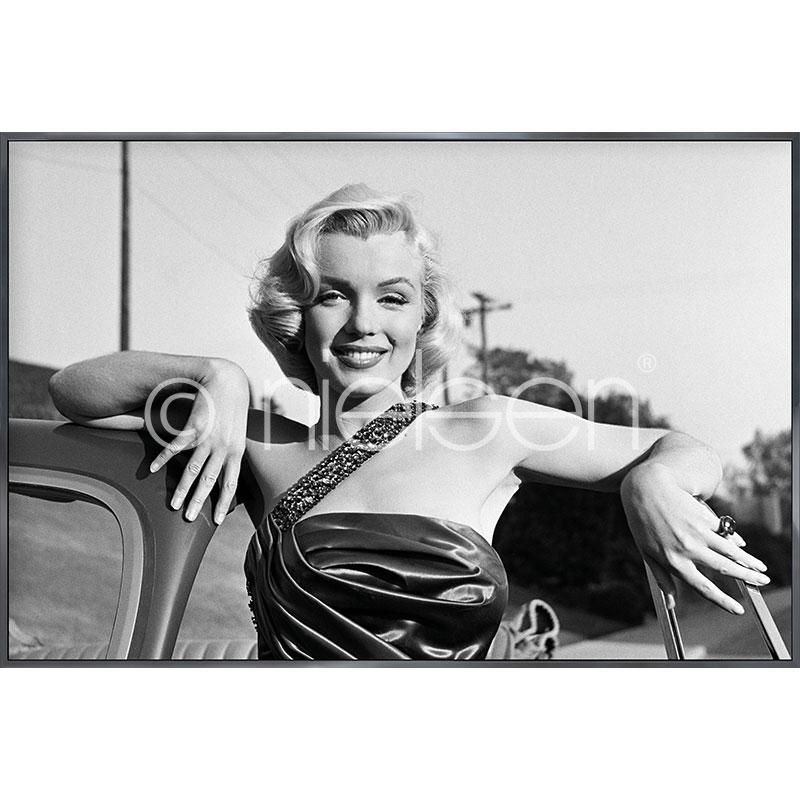 "Image encadrée ""Marylin Monroe I"" avec cadre en aluminium Alpha"