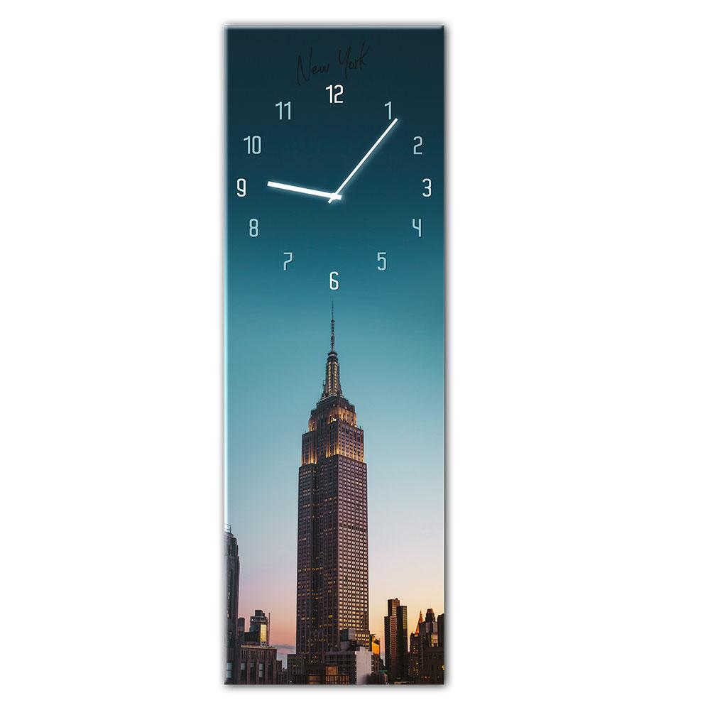 Horloge en verre MANHATTAN