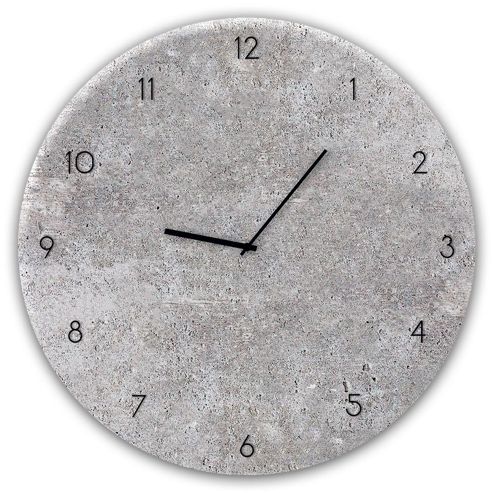 Horloge en verre CONCRETE 2