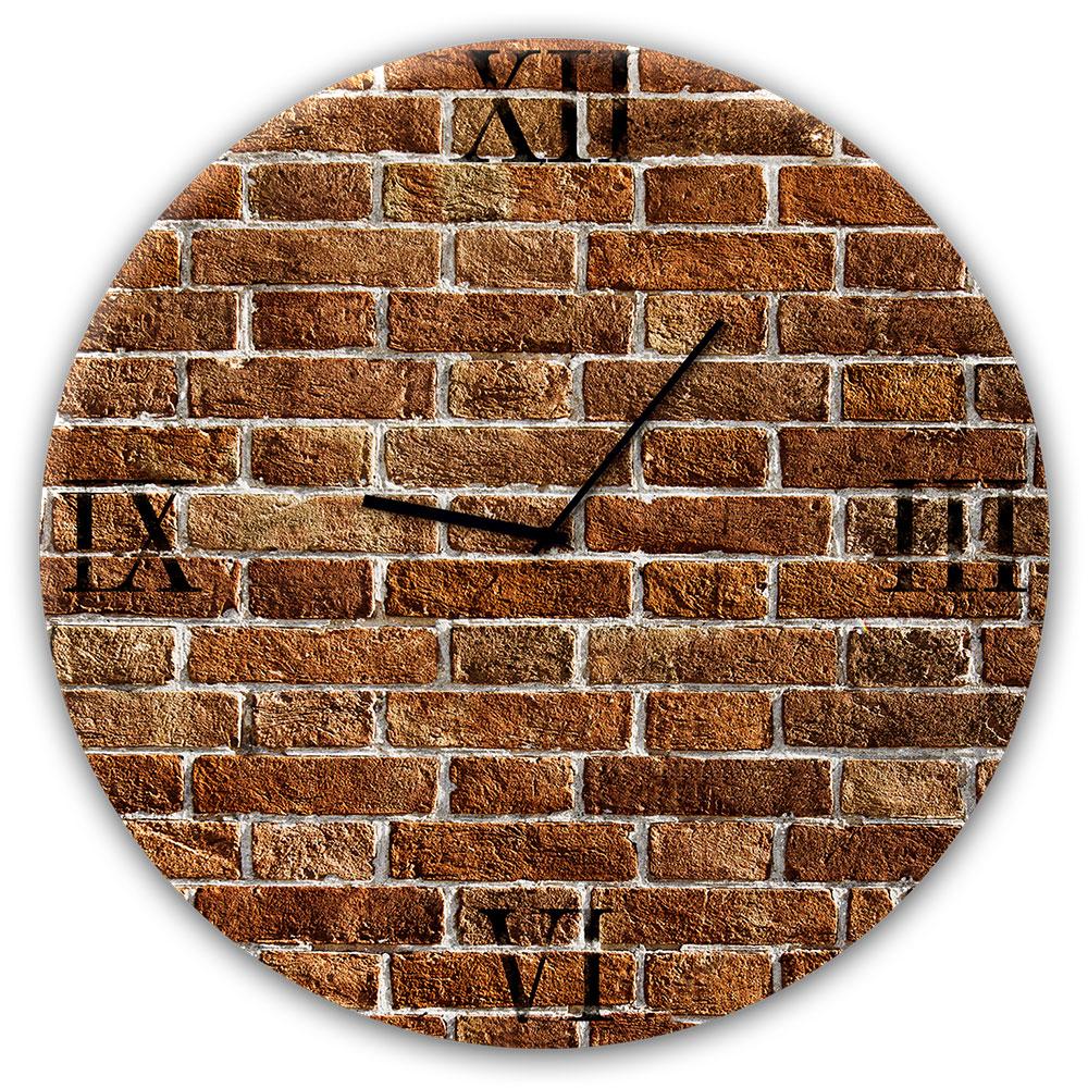 Horloge en verre REDBRICK