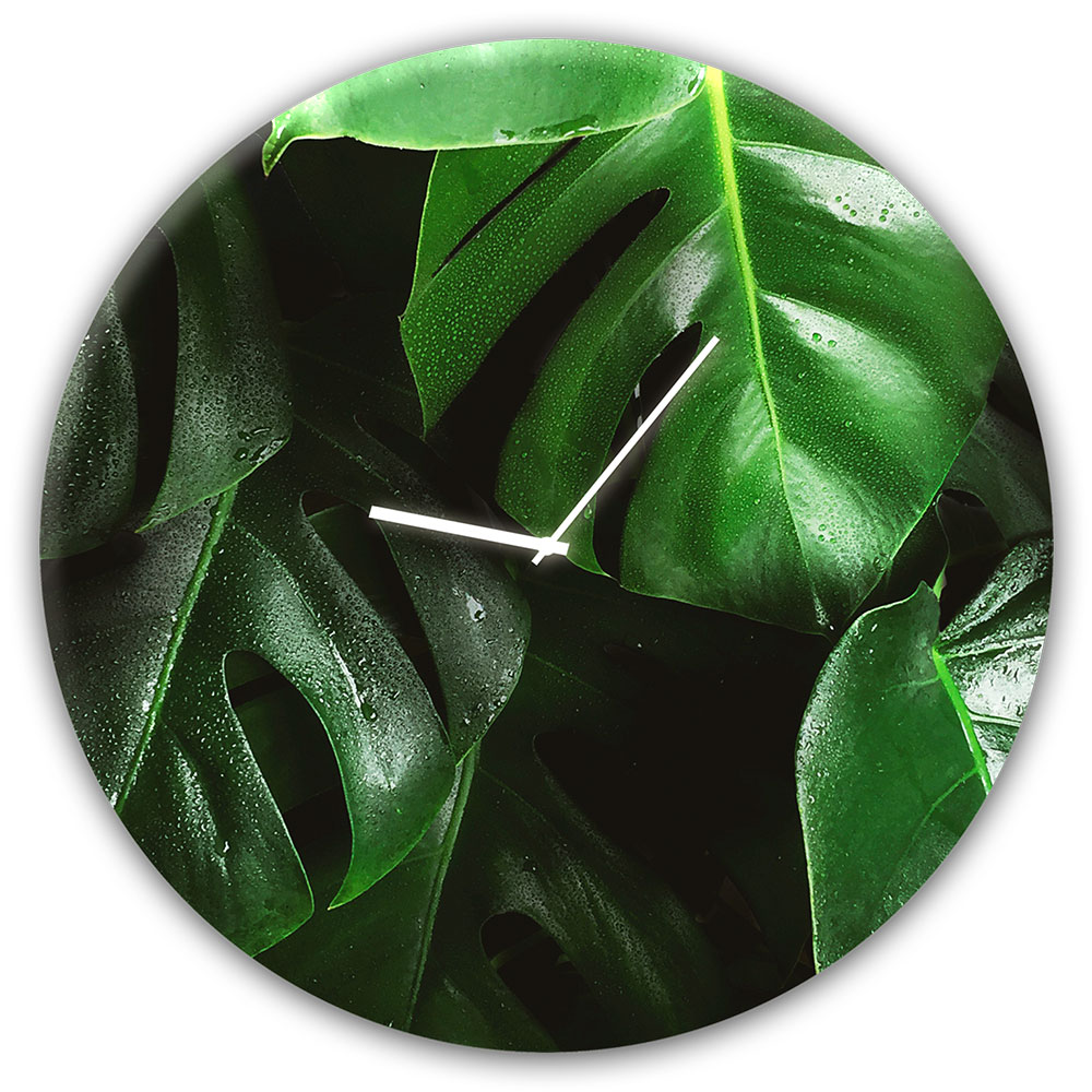 Horloge en verre MONSTERA