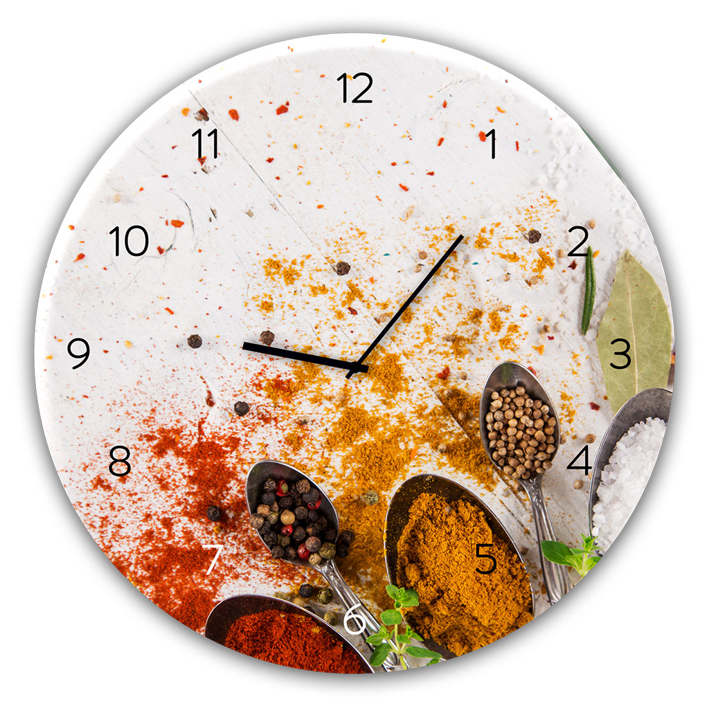 Horloge en verre SPOON