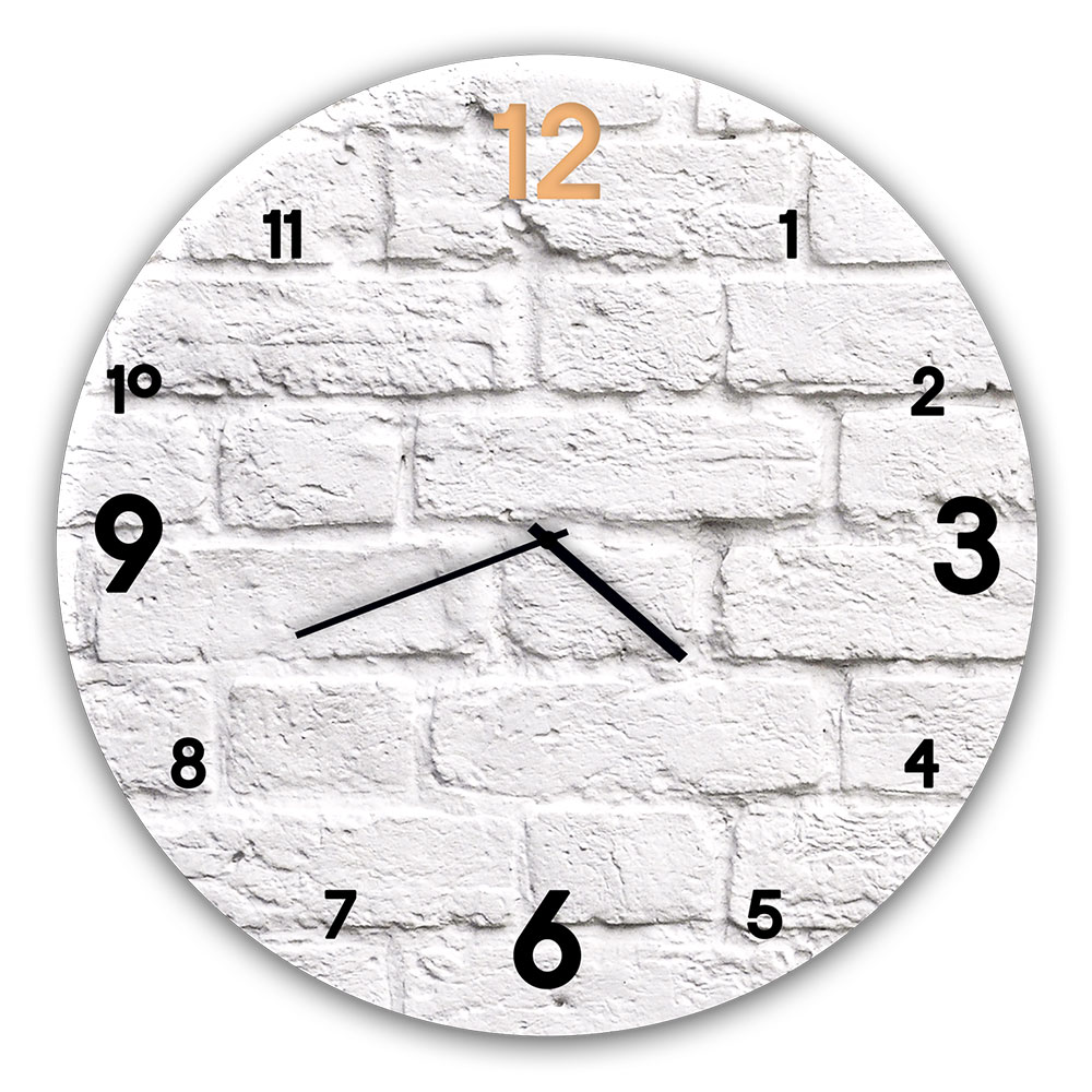 Horloge en verre BRICK