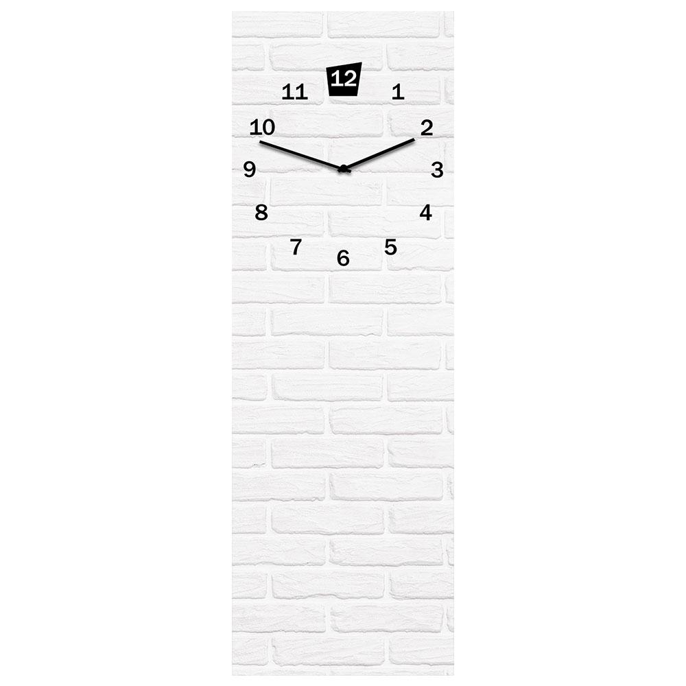 Horloge en verre WHITE